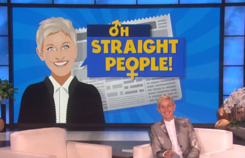 Oh Straight People segment on The Ellen Show
