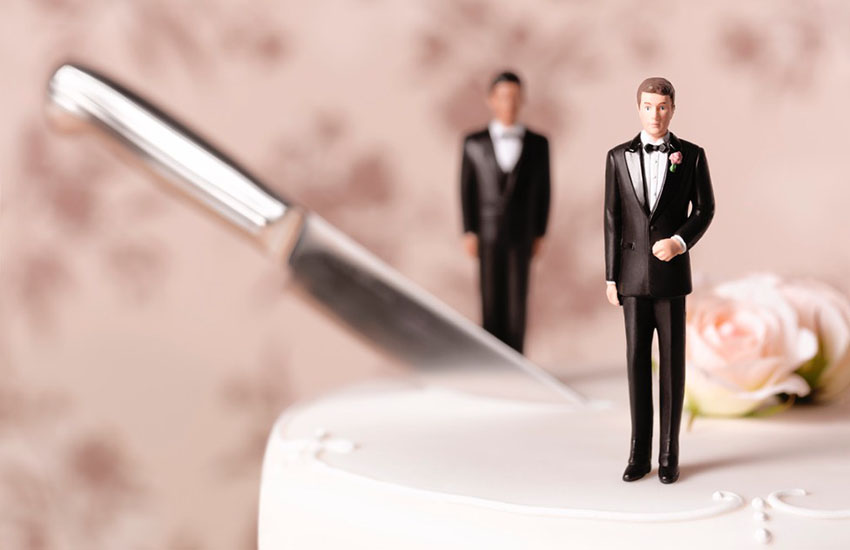 Gay divorce has gone up five times last year compared to the previous year