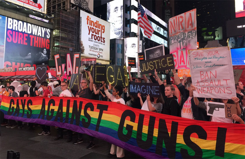 Gays Against Guns hold protest in New York City