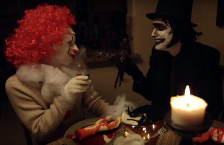 Pennywise and Babadook celebrating their engagement