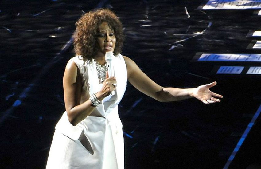 Whitney Houston performing in 2010.