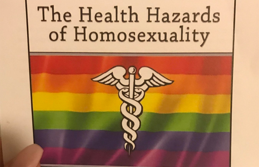 Anti-LGBTI pamphlet