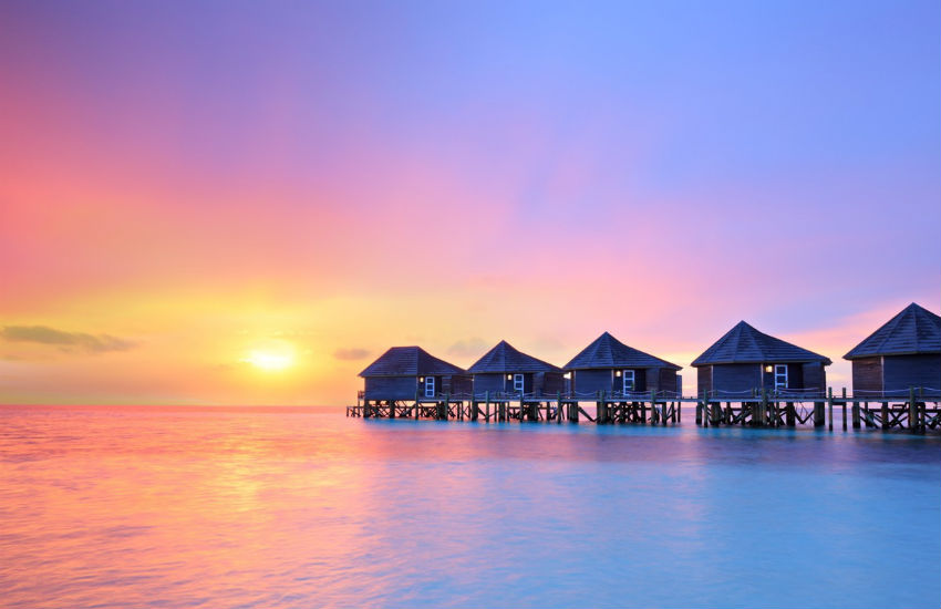 The exotic country of the Maldives
