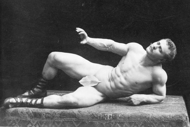 Are our concepts of masculinity stucA photo of Victorian era bodybuilder Eugen Sandow to demonstrate bygone concepts of masculinity
