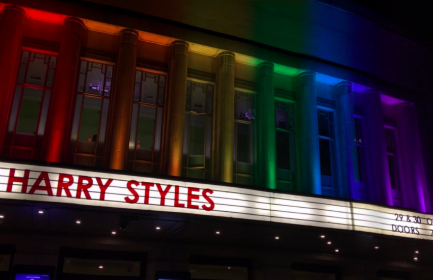 Harry Styles performed at his first London date of his current tour last night