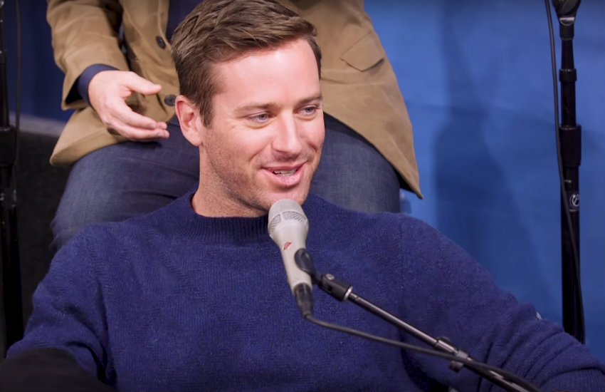 Armie Hammer discussing the editing of Call Me by Your Name.