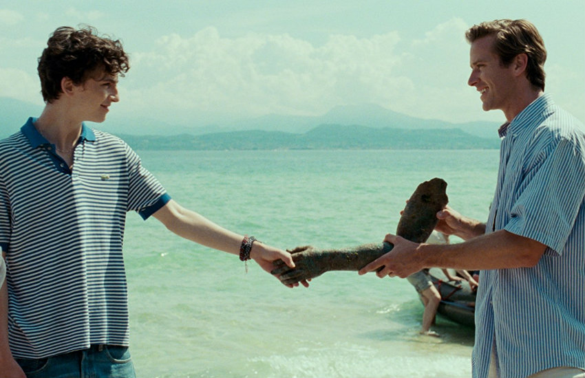 A still from Call Me By Your Name as they recieve three Golden Globe nominations