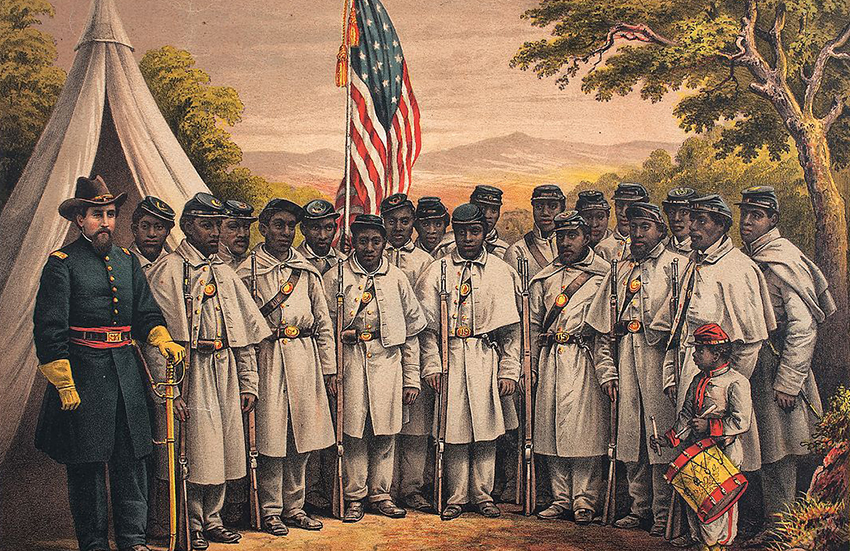 Black soldiers during the American Civil War.