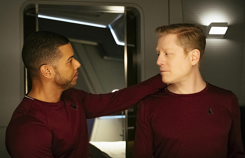 Star Trek Discovery's gay couple, Dr Culber and Lt Stamets.