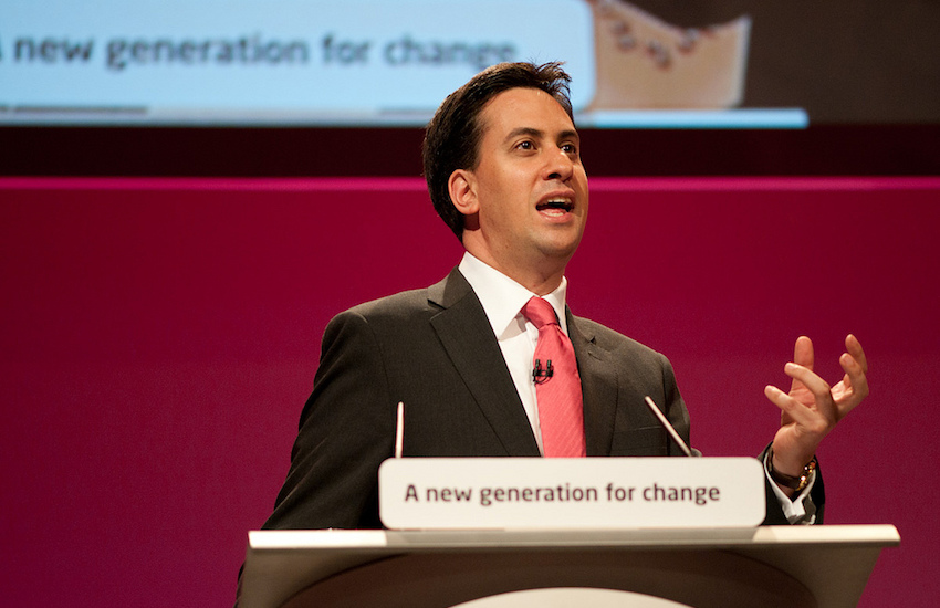 Ed Miliband at Labour Party Conference | Photo: Wikipedia