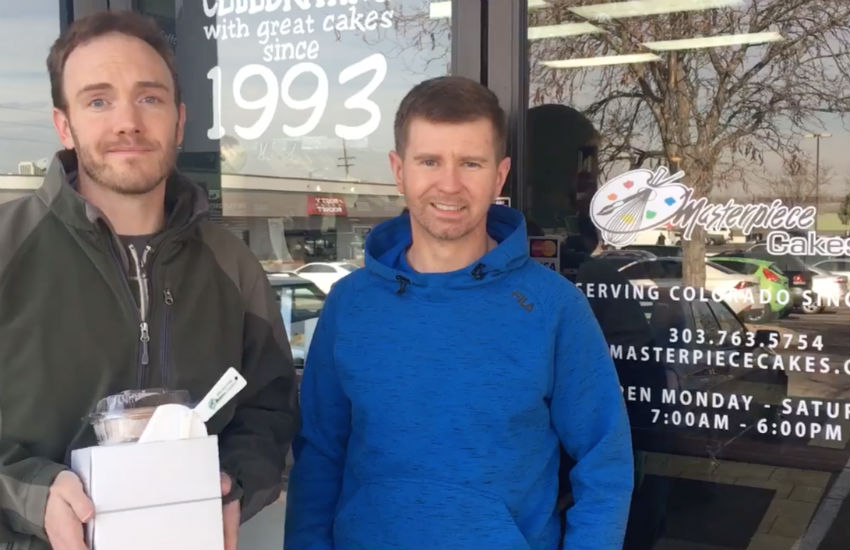 Gay couple defend baker's right to discriminate wedding cake
