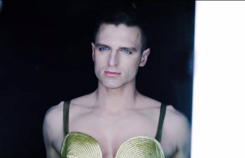 Milk in the Madonna commercial