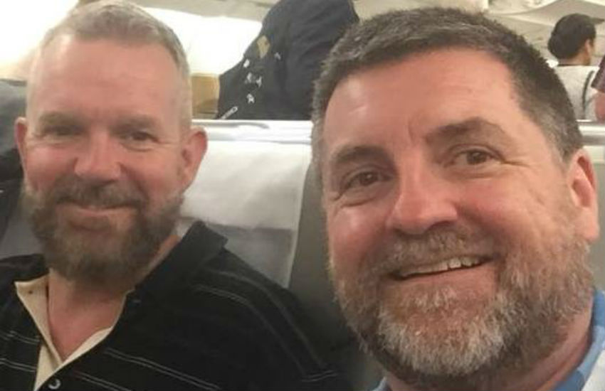 Neighbor sends threatening letters to Aussie gay couple Kirk Muddle and his partner Andrew wanting to castrate them