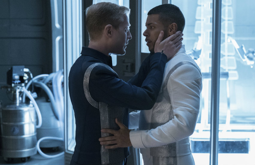 Two gay characters in Star Trek Discovery.