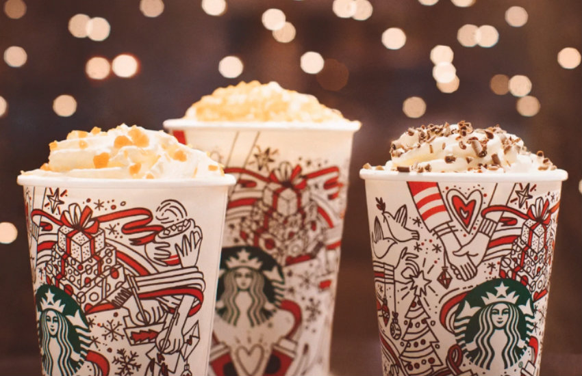 The new Starbucks holiday cup.
