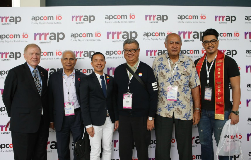 APCOM staff and ambassadors at RRRAP Summit