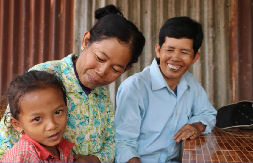 Lesbian couple and their daughter in Cambodia
