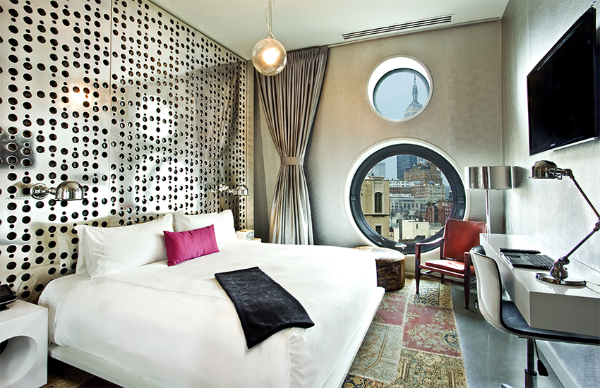 A kingsize room at Dream Downtown