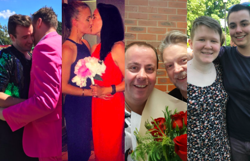 Congrats to the happy couples!