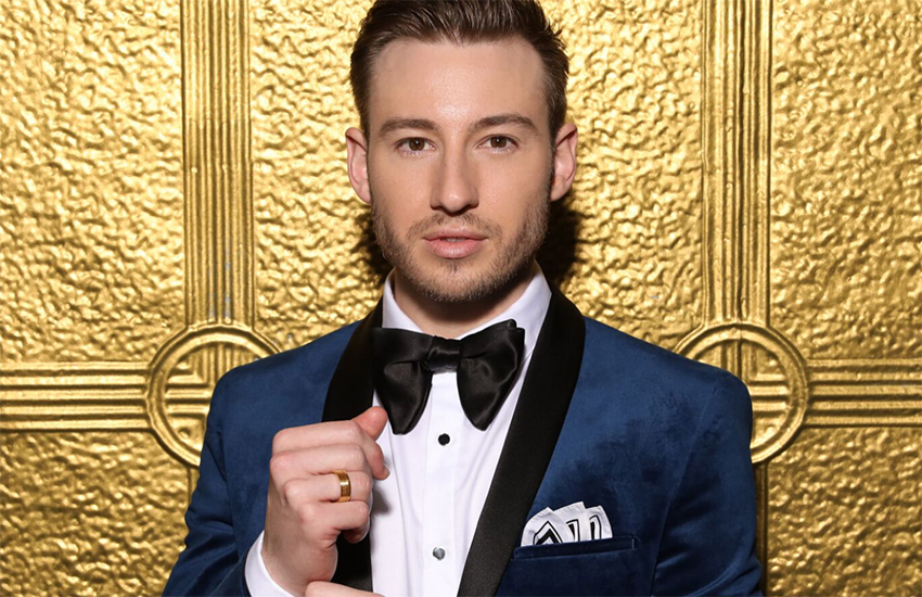 Matthew Mitcham sporting one of his new 'H&H' rings