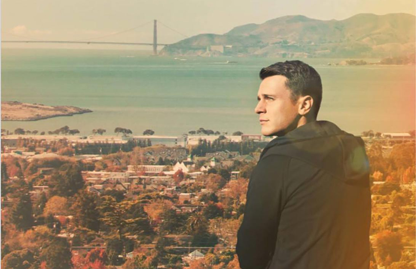 Jonathan Groff looks out to the Golden Gate Bridge in Looking