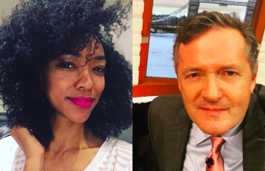 Sonequa Martin-Green debated with Piers Morgan on GMB this morning (7 November)