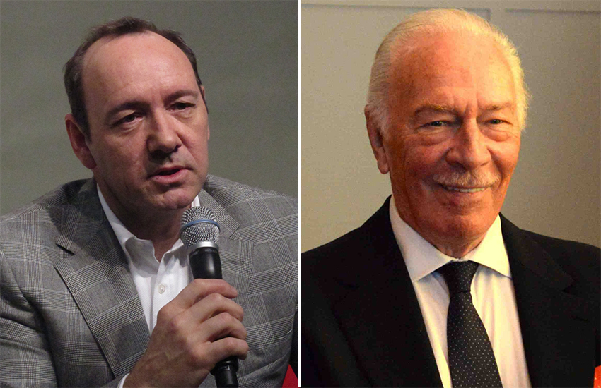 Kevin Spacey (L) and Christopher Plummer (R)