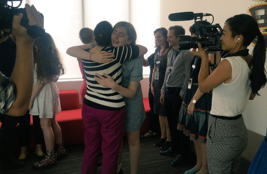Trans advocate Georgie Stone celebrates the Family Court's ruling