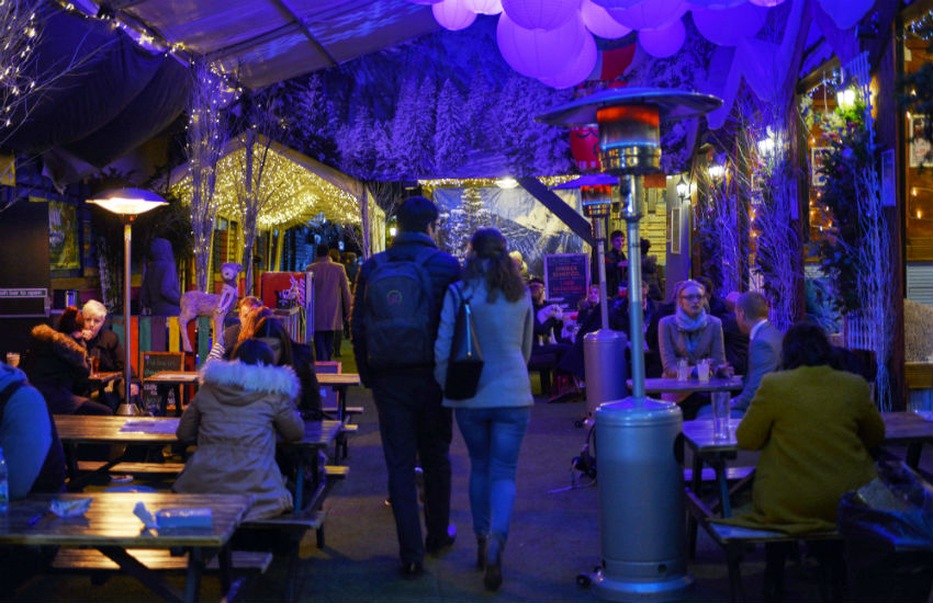 Vauxhall Winter Wonderland decorated with festive spirit