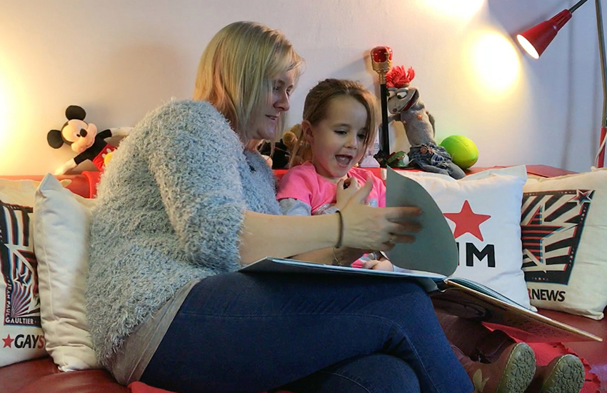 Lily, 5, reads LGBTI children's book And Tango Makes Three