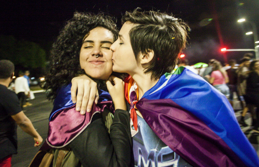 Queer women at pride in Brazil