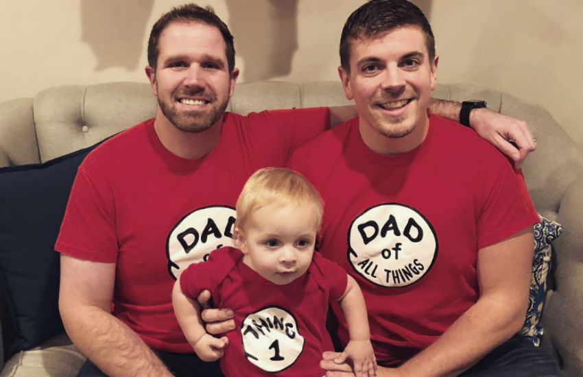 Gay dads reveal they're expecting triplets
