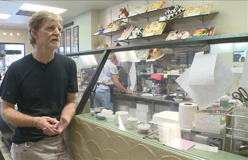 Christian baker Jack Phillips in his Colorado shop.