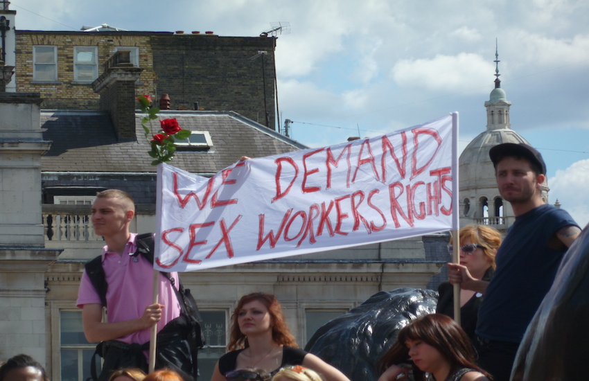 'We demand sex workers rights'