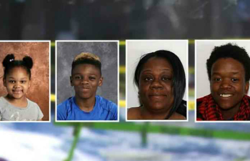 Lesbian couple Shanta Myers and Brandi Mells and the two children who were killed in New York.