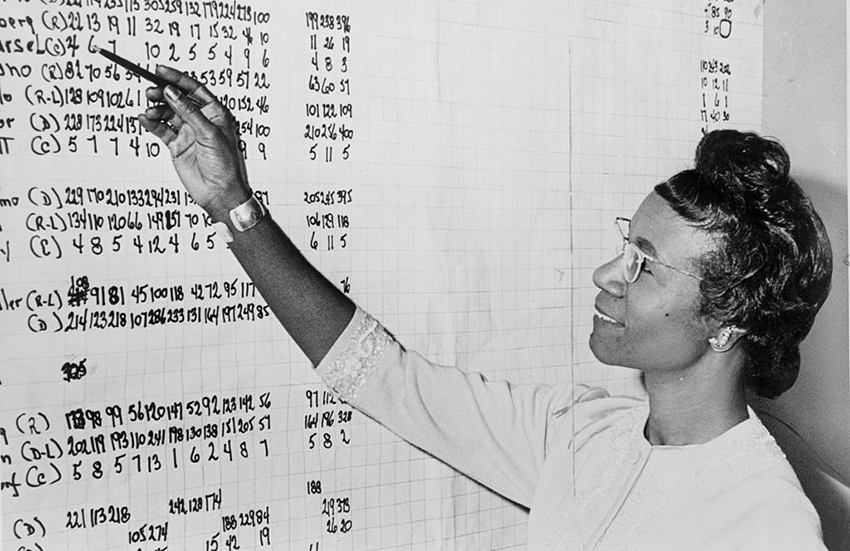 Trailblazer Shirley Chisholm reviewing political statistics in 1965.