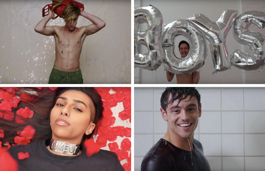 Shots from the original and Queer Collective's version of Charlie XCX's Boys | Photo: YouTube