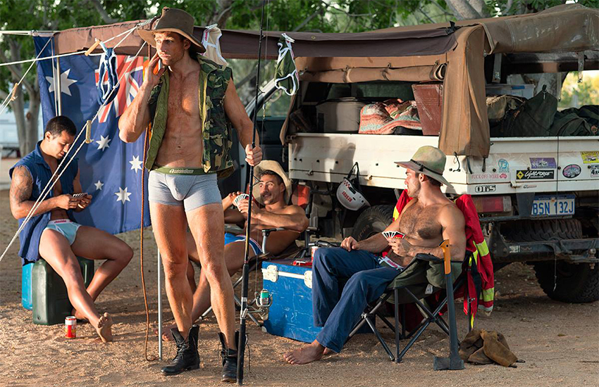 The Aussiebum advert with the anti-immigration sticker