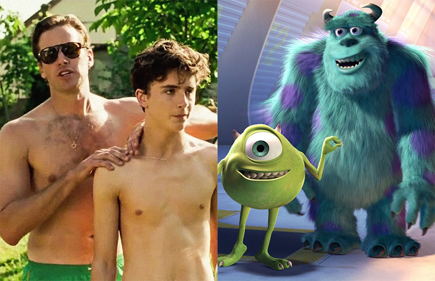 Call Me By Your Name and Monsters Inc