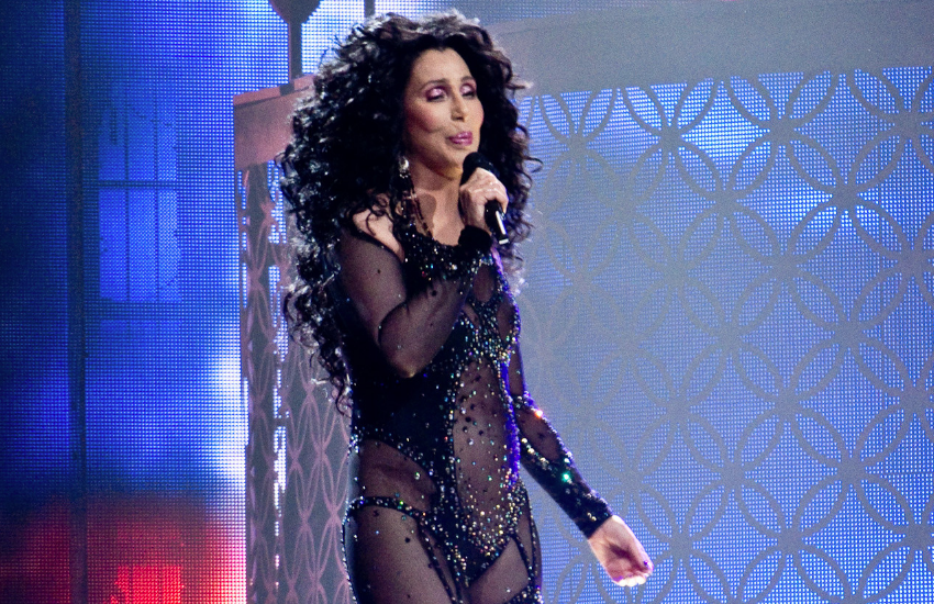 Cher performing on stage at the age of 71