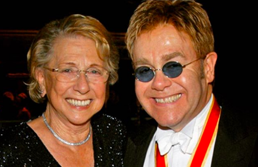 Sir Elton John and his mother