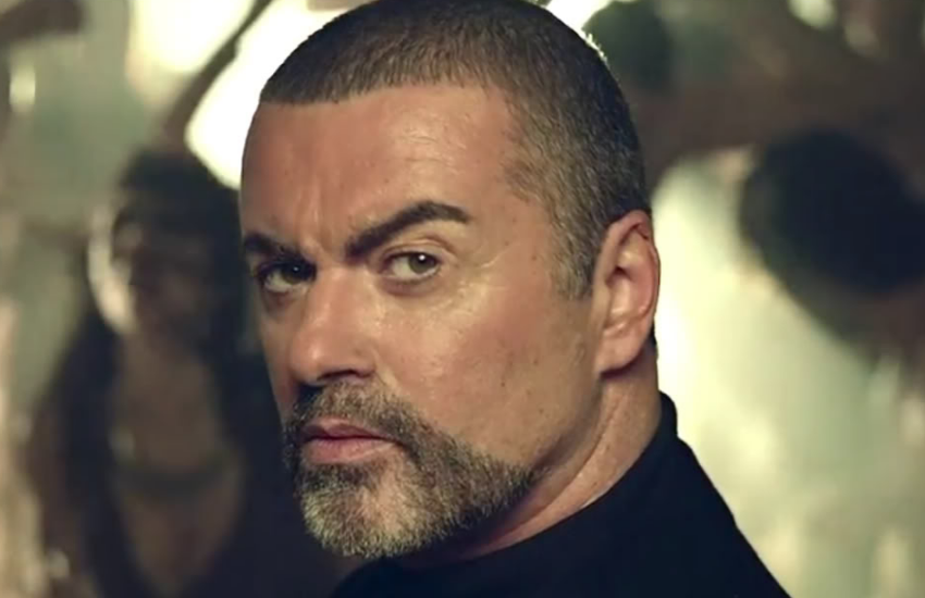 George Michael in the video for White Light