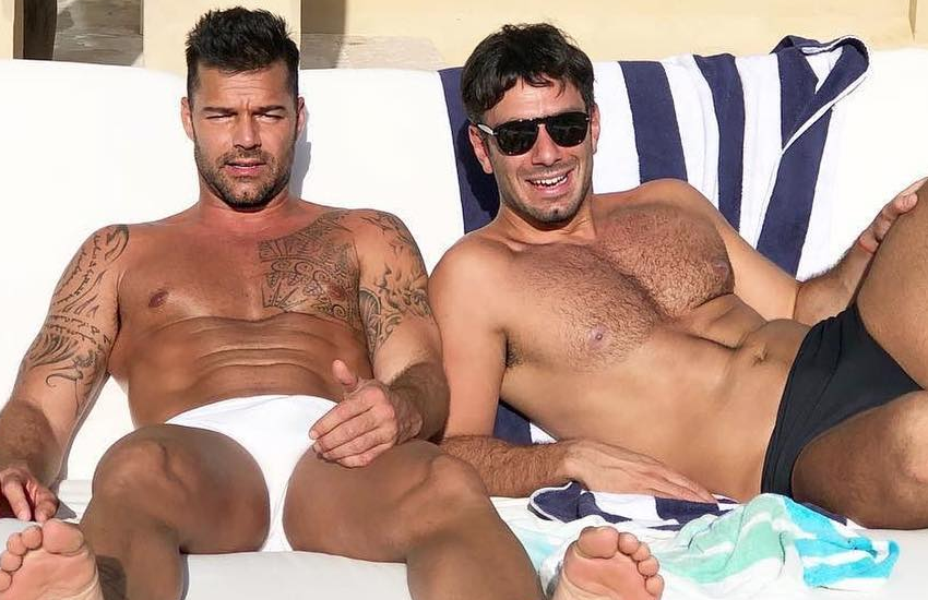 Ricky Martin and Jwan Yosef soak up the sun in Puerto Rico on Christmas Day