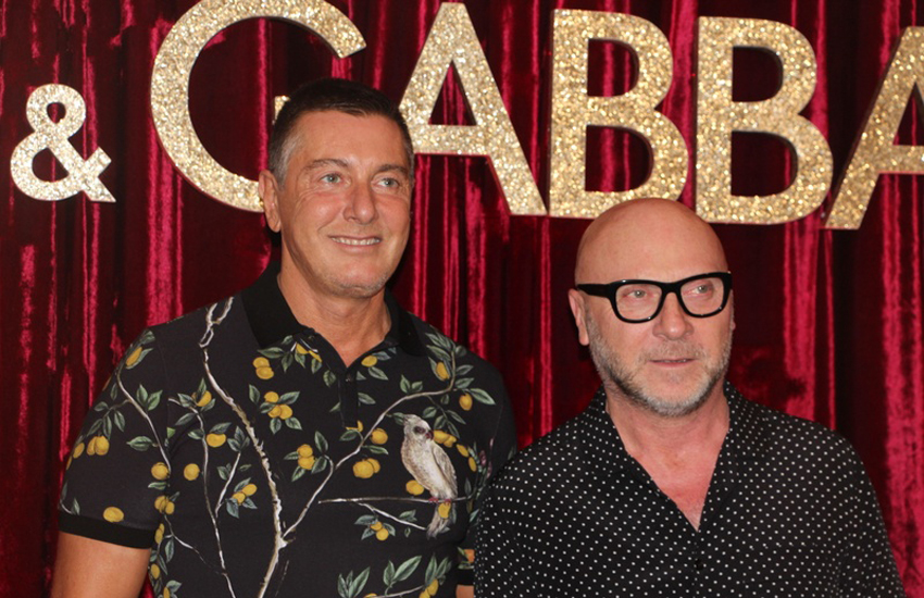 Stefano Gabbana and Domenico Dolce at an event