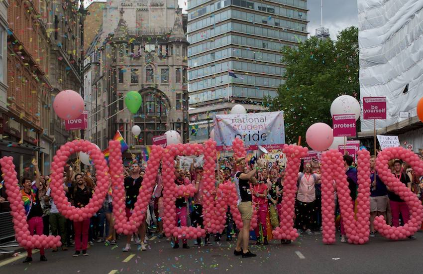 National Student Pride with NUS LGBT+ at London Pride | Photo: National Student Pride