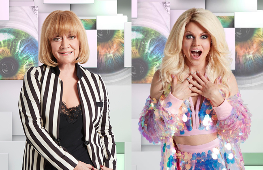 Amanda Barrie and Courtney Act