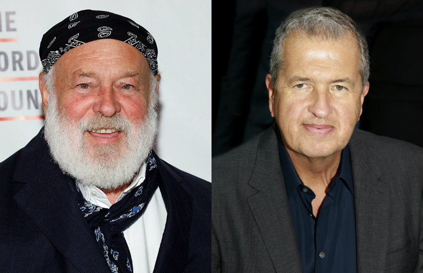 Bruce Weber and Mario Testino, photographers who previously worked for Condé Nast.