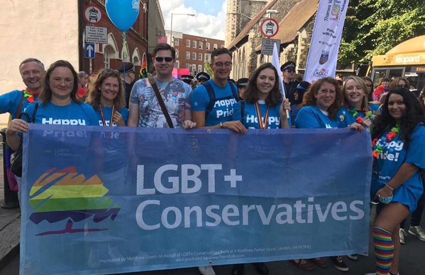 LGBT Conservatives march at Pride