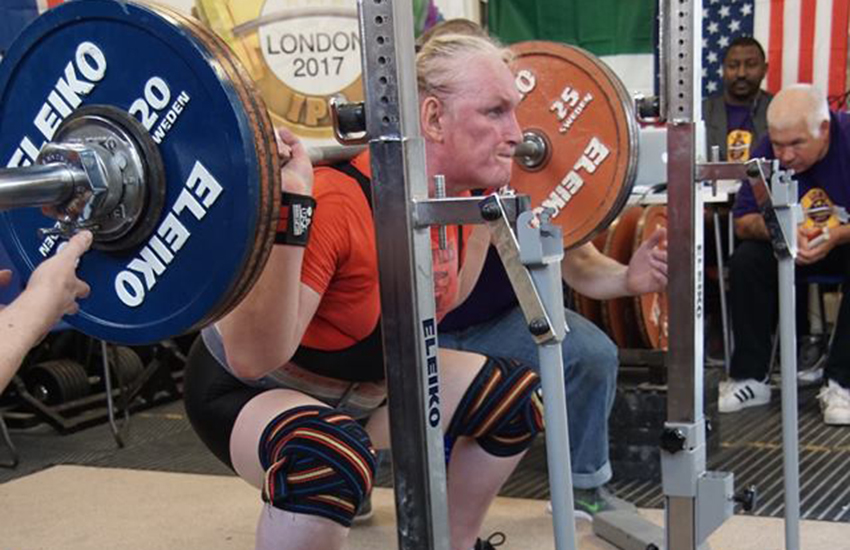 Charlotte Wareing competes in the International LGBT Powerlifting Championships