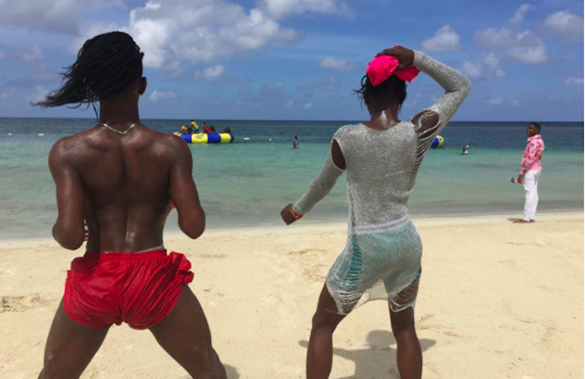 Pride-goers enjoying the beach at Montego Bay Pride in Jamaica. | Photo: Maurice Tomlinson